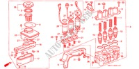 A.L.B. MODULATOR ( '91) for Honda Cars CONCERTO 1.6I 5 Doors 4 speed automatic 1990