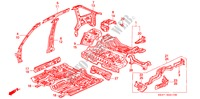 BODY STRUCTURE COMPONENTS (INNER PANEL) for Honda Cars CONCERTO 1.6I 5 Doors 4 speed automatic 1990