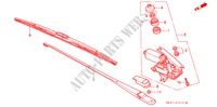 REAR WIPER for Honda Cars CONCERTO 1.6I 5 Doors 4 speed automatic 1990