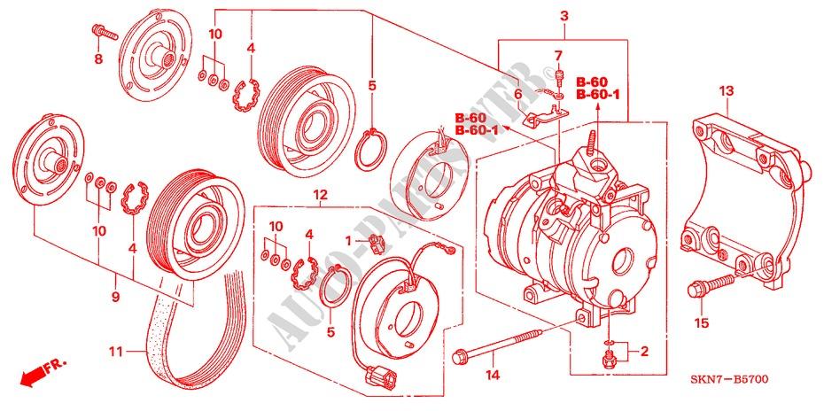 Air Conditioner Compressor Body Parts Se S 2006 Cr V I