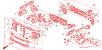 BODY STRUCTURE COMPONENTS (FRONT BULKHEAD) BODY PARTS ACCORD COUPE honda-cars 1993 2.0I B__4900