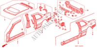 BODY STRUCTURE COMPONENTS (OUTER PANEL) BODY PARTS ACCORD COUPE honda-cars 1993 2.0I B__4920