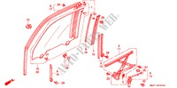 FRONT DOOR WINDOWS BODY PARTS ACCORD COUPE honda-cars 1993 2.0I B__5300