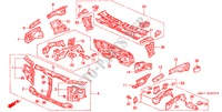 BODY STRUCTURE COMPONENTS (FRONT BULKHEAD) BODY PARTS ACCORD honda-cars 1990 2.0 B__4900