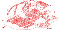 BODY STRUCTURE COMPONENTS (INNER PANEL) BODY PARTS ACCORD honda-cars 1990 2.0 B__4910