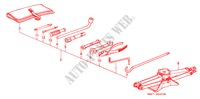 TOOLS/JACK UPHOLSTERY ACCORD honda-cars 1990 2.0 B__4400