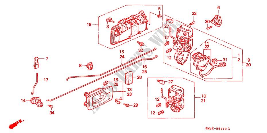 Genuine Honda 72660-SM4-003ZC Handle Assembly