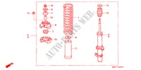 FRONT SHOCK ABSORBER STEERING, BRAKE, SUSPENSION ACCORD WAGON honda-cars 1993 2.2I B__2800