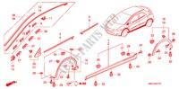 MOLDING/SIDE SILL GARNISH for Honda Cars CIVIC 1.8 SPORT 5 Doors 6 speed manual 2006