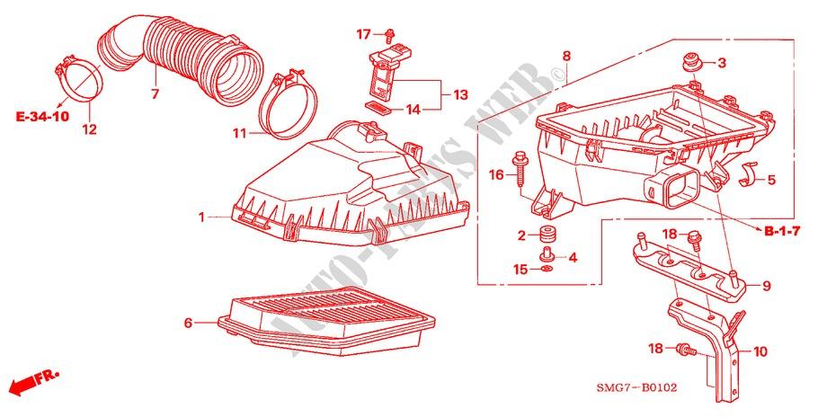 Air Cleaner  Diesel  For Honda Cars Civic 2 2 Sport 5 Doors 6 Speed Manual 2008   Honda Cars