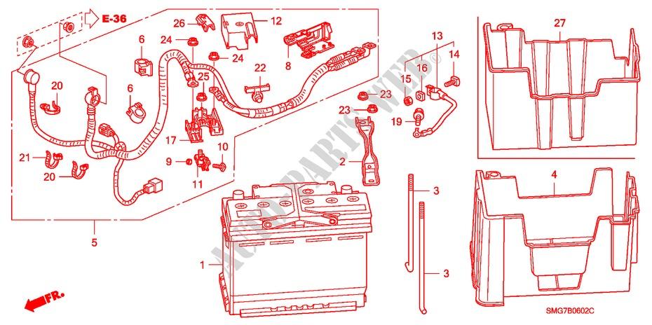 Battery  Diesel  For Honda Cars Civic 2 2 Executive Dpf 5 Doors 6 Speed Manual 2007   Honda Cars