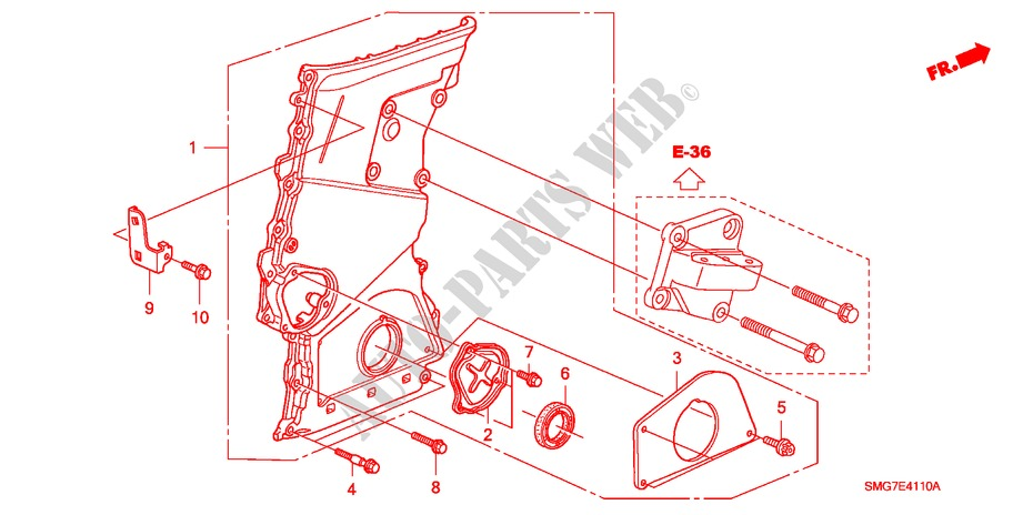 chain case diesel engine 22 se 2006 civic honda cars honda genuine rh parts honda uk Honda ATV Car Diagram