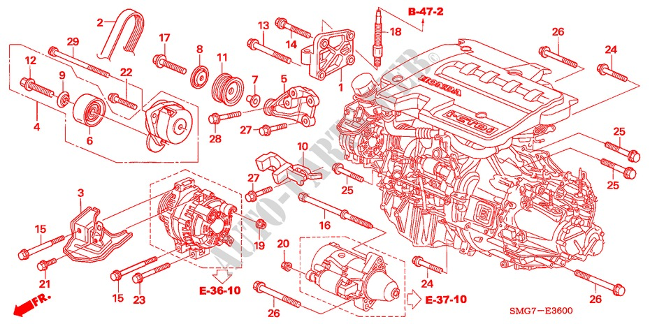 2008 Honda Civic Motor Mount Diagram