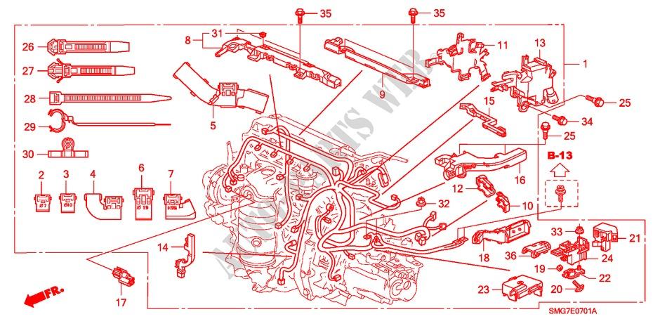 Engine Wire Harness 18l Engine 18 Sport 2007 Civic Honda