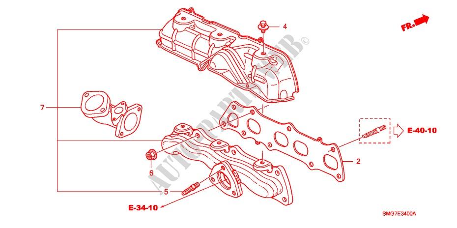2006 Honda Civic Exhaust Diagram