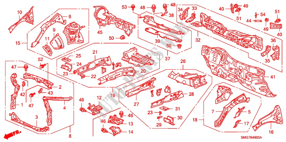 33 2006 Honda Civic Parts Diagram