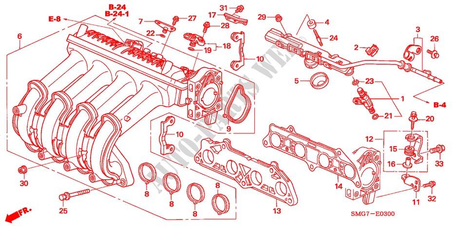 Intake Manifold  1 4l  For Honda Cars Civic 1 4 Se 5 Doors 6 Speed Manual 2007   Honda Cars