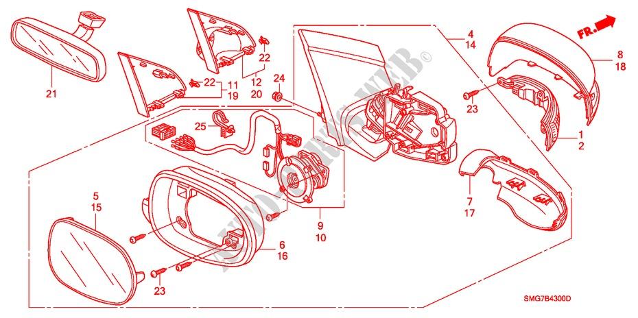 Mirror For Honda Cars Civic 1 8 Se 5 Doors Intelligent Manual Transmission 2008   Honda Cars