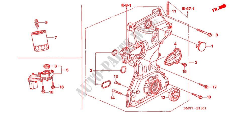 Oil Pump  1 8l  For Honda Cars Civic 1 8 Ex 5 Doors 6