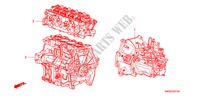 ENGINE ASSY./TRANSMISSION  ASSY.(1.4L) for Honda Cars CIVIC 1.4 SPORT 5 Doors 6 speed manual 2009