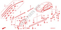 MOLDING/SIDE SILL GARNISH for Honda Cars CIVIC 1.8 BASE 5 Doors 5 speed automatic 2009