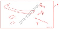 TRUNK SPOILER PRIMED for Honda Cars CIVIC 1.8 BASE 5 Doors 5 speed automatic 2009