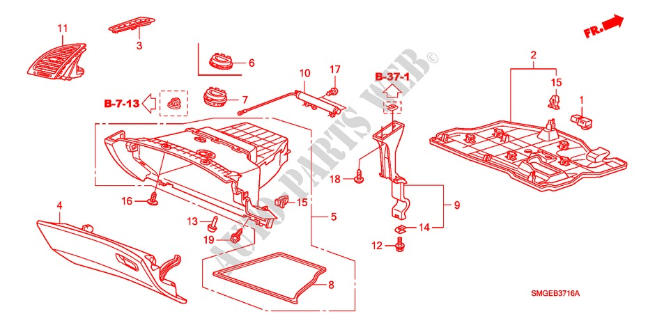 Instrument Panel Garnish  Rh  Passenger Side  For Honda Cars Civic 1 4 Se 5 Doors Intelligent