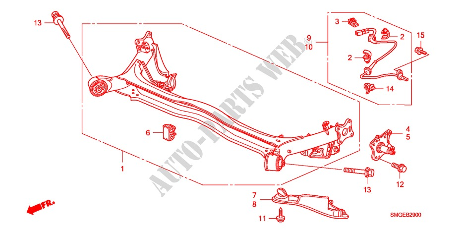 REAR LOWER ARM for Honda Cars CIVIC 1.8 SPORT 5 Doors 6 speed manual 2010