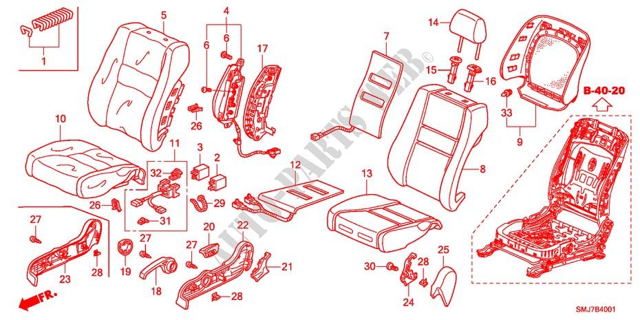 Honda Genuine 81247-SNA-A11ZB Seat Reclining Cover