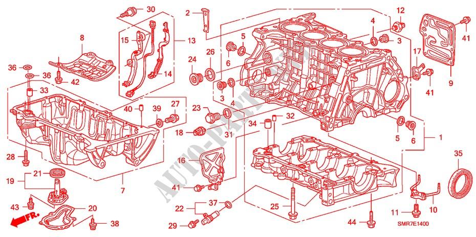 honda cars civic 2008 1 8 type s intelligent manual transmission engine  cylinder block/oil pan