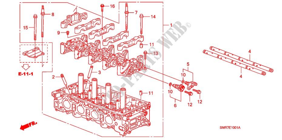 Cylinder Head  2 0l  For Honda Cars Civic 2 0 Type R Plus 3 Doors 6 Speed Manual 2009   Honda