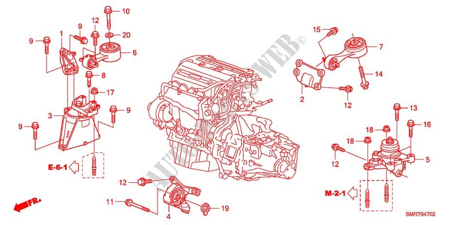 2008 Honda Civic Motor Mount Diagram