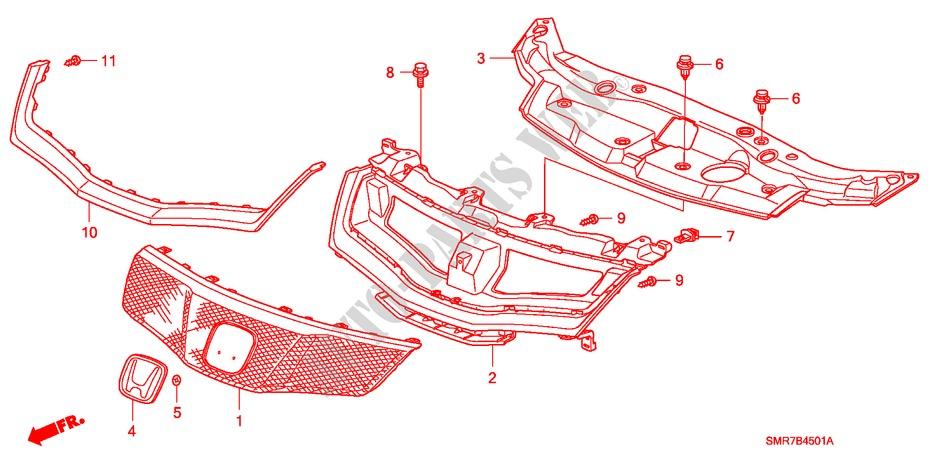2016 Honda Civic Base Front Grille Manual Guide
