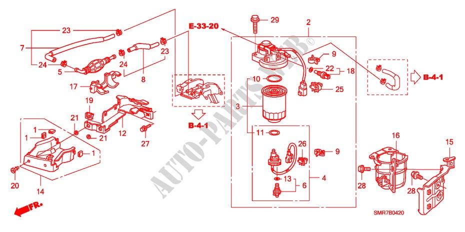 Fuel Strainer For Honda Cars Civic 2 2 Type S Dpf 3 Doors 6 Speed Manual 2007   Honda Cars