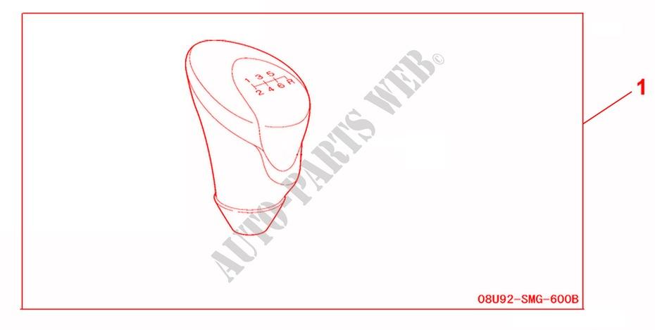 Gear Shift Knob 6mt For Honda Cars Civic 1 8 Base 3 Doors Intelligent Manual Transmission 2007