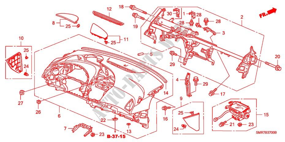 Instrument Panel  Lh  For Honda Cars Civic 2 0 Type R Plus 3 Doors 6 Speed Manual 2007   Honda