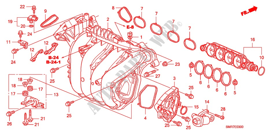 Intake Manifold  1 8l  For Honda Cars Civic 1 8 Type S 3 Doors 6 Speed Manual 2008   Honda Cars