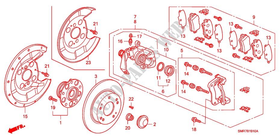 Rear Brake For Honda Cars Civic 1 4 Base 3 Doors Intelligent Manual Transmission 2009   Honda