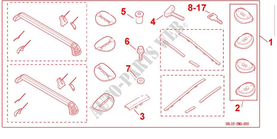 Roof Rack  Base Carrier  For Honda Cars Civic 2 0 Type R Plus 3 Doors 6 Speed Manual 2009
