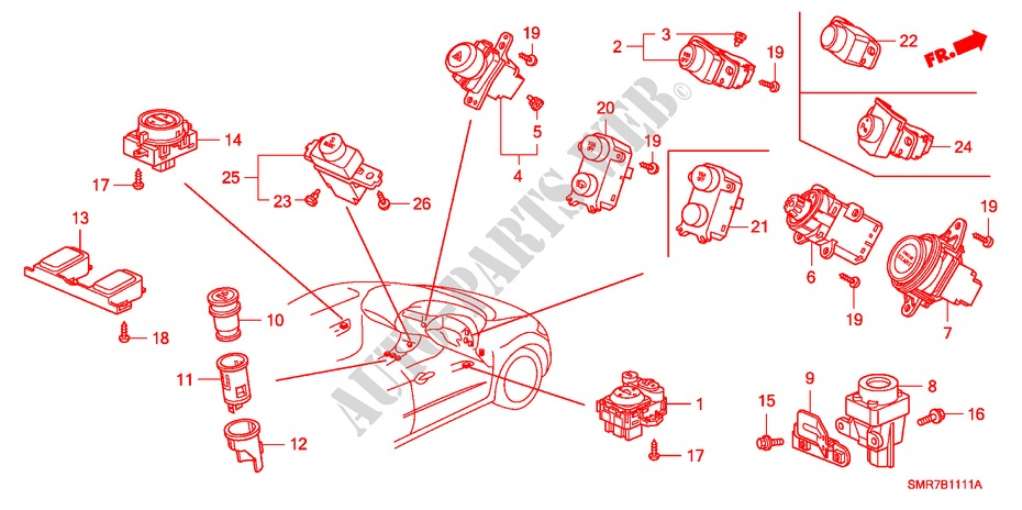 Switch  Rh  For Honda Cars Civic 1 8 Base 3 Doors