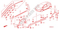 MOLDING/SIDE SILL GARNISH UPHOLSTERY CIVIC honda-cars 2010 2.2 TYPE-S B__4210