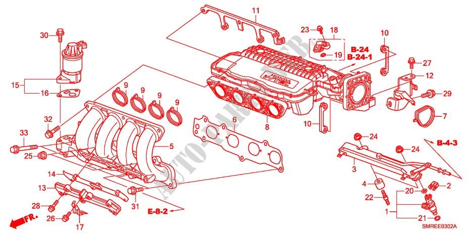 Intake Manifold 1 4l  For Honda Cars Civic 1 4 Base 3