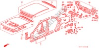OUTER PANELS BODY PARTS ACCORD honda-cars 1996 1.8ILS B__4920