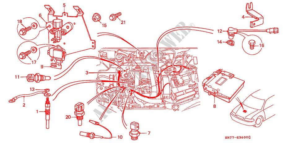honda cars accord 1996 2 0itd 5 speed manual engine engine wire harness