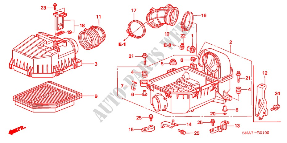 Genuine Honda 17262-P0A-000 Air Cleaner Stay