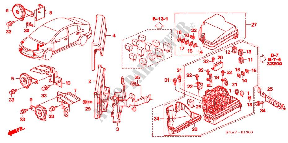 CONTROL UNIT (ENGINE ROOM) (1) for Honda Cars CIVIC VTI 4 ... on