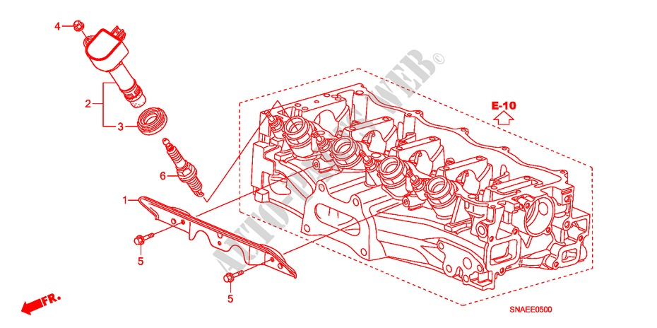 Plug Hole Coil  Plug For Honda Cars Civic 1 8 Ls Day Light 4 Doors 5 Speed Automatic 2009   Honda