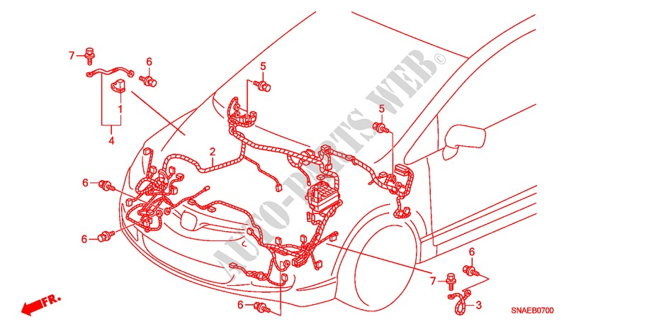 Wire Harness  Lh   1  For Honda Cars Civic 1 8 Ls Day