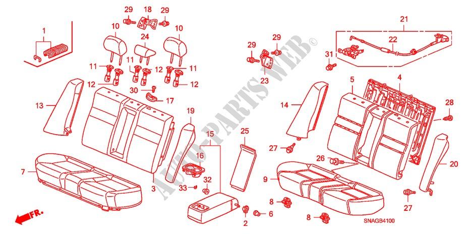 Rear Honda Genuine 82995-SNA-A01ZK Seat Armrest Cover