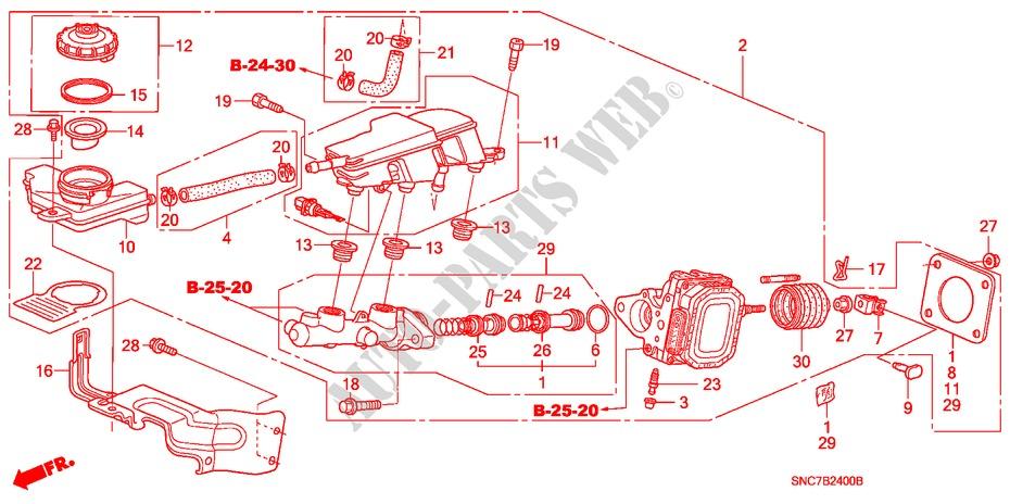 Brake Master Cylinder Lh  For Honda Cars Civic Hybrid Mx 4 Doors Full Automatic 2008   Honda